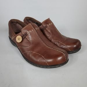 CLARKS Brown Leather Shoes